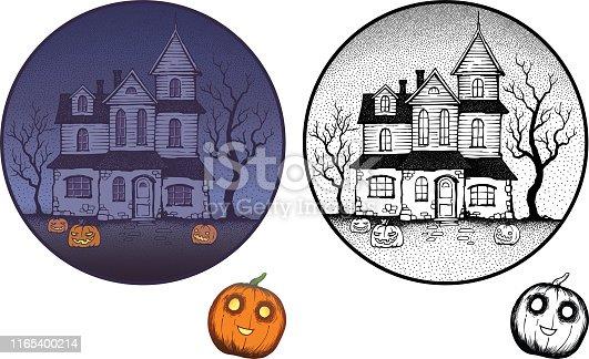 istock Haunted house 1165400214