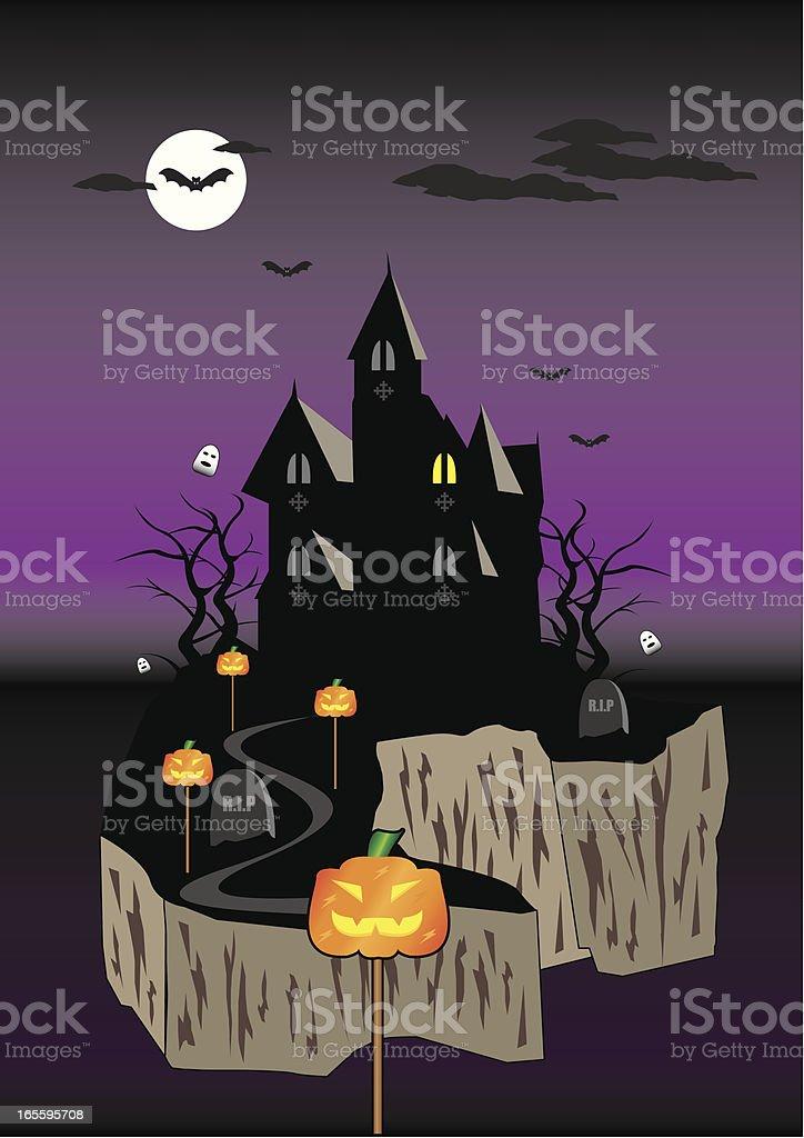 Haunted House ilustração de haunted house e mais banco de imagens de assustador royalty-free