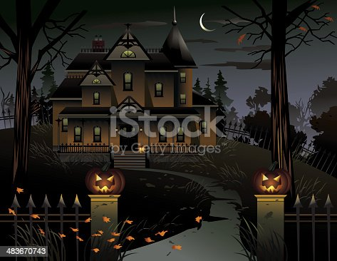 istock Haunted Manor 483670743