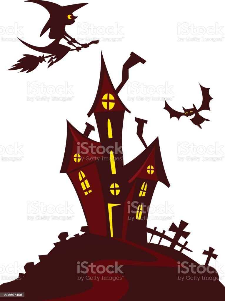 haunted mansion spooky haunted house vector illustration cartoon rh istockphoto com haunted house vector free download haunted house vector png