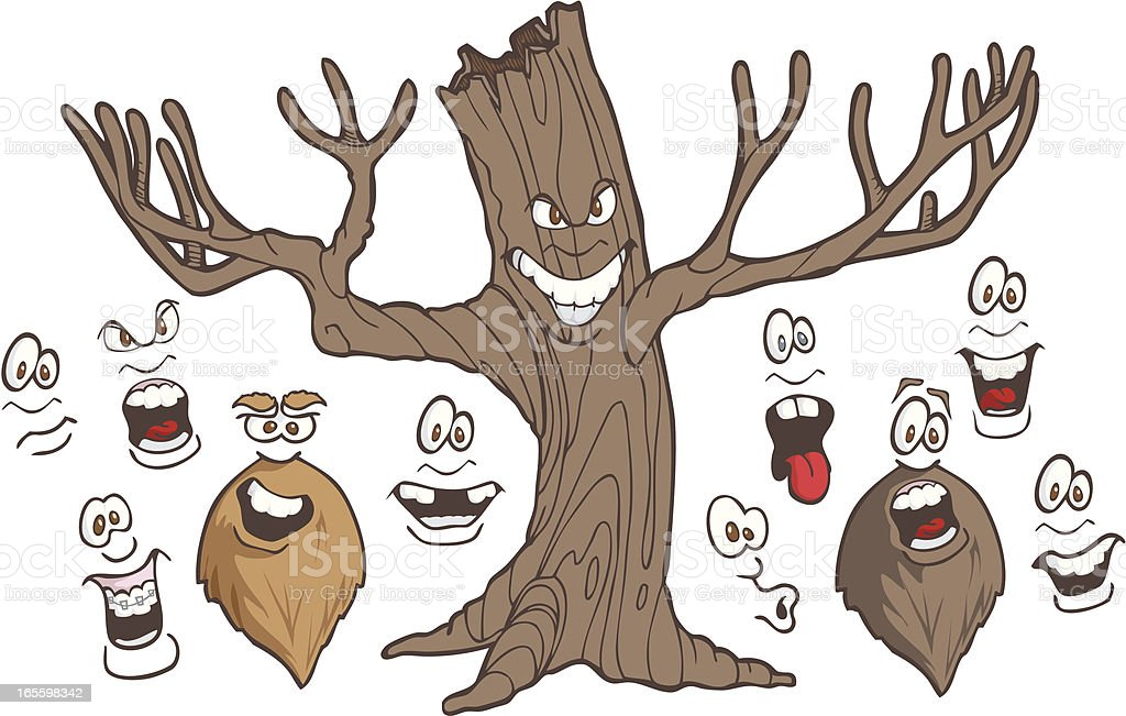 Haunted Tree Expressions royalty-free haunted tree expressions stock vector art & more images of anger