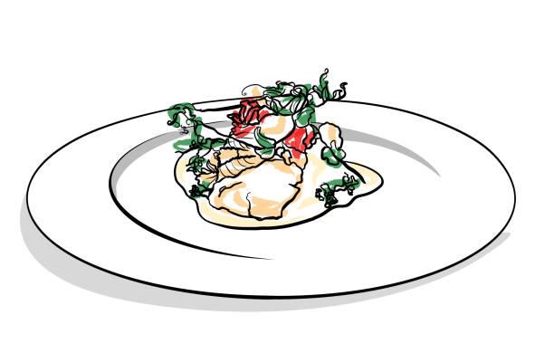 Haute Cuisine vector art illustration