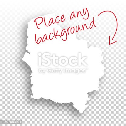 istock Hauts-de-France Map for design - Blank Background 1307053991