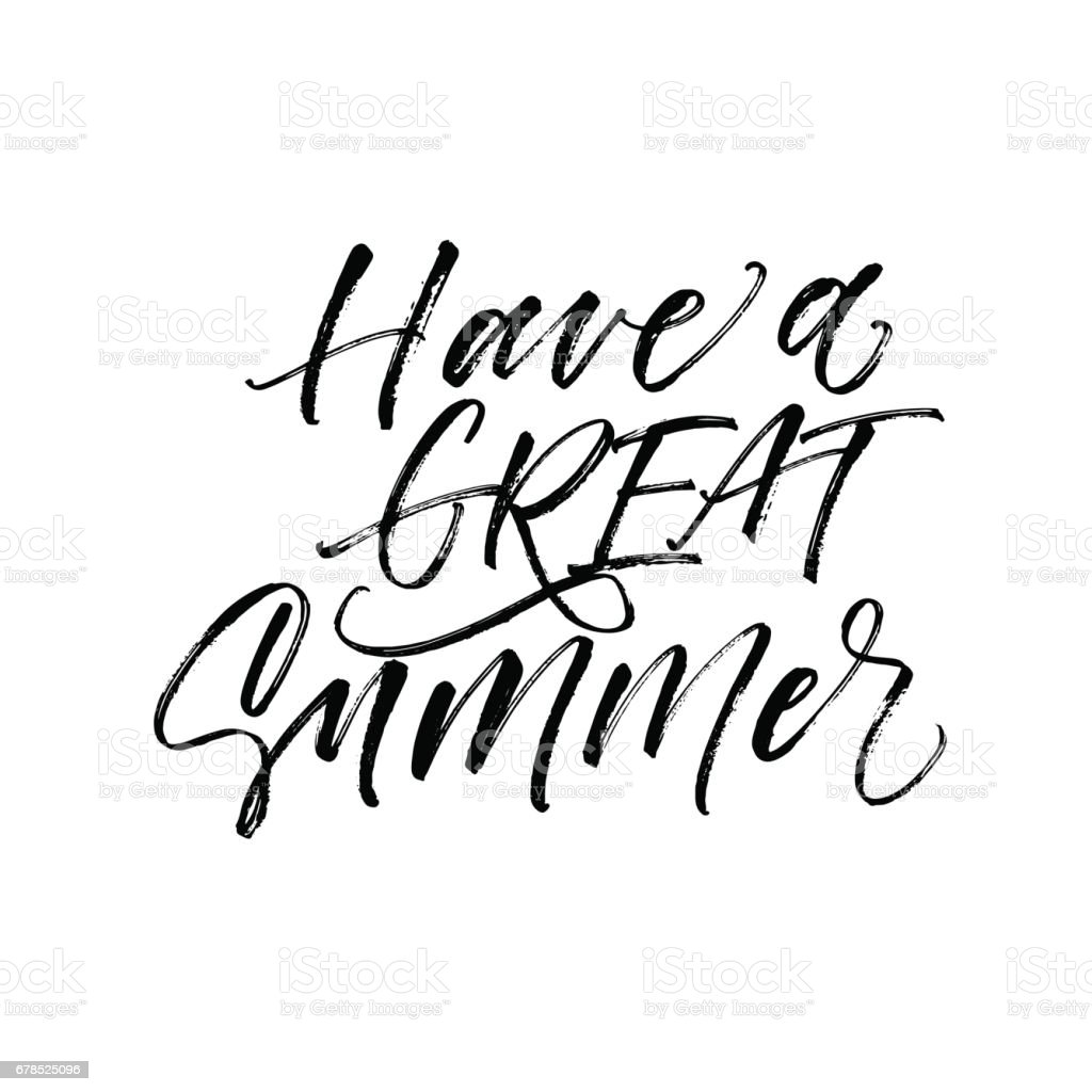 Have a great summer card. vector art illustration