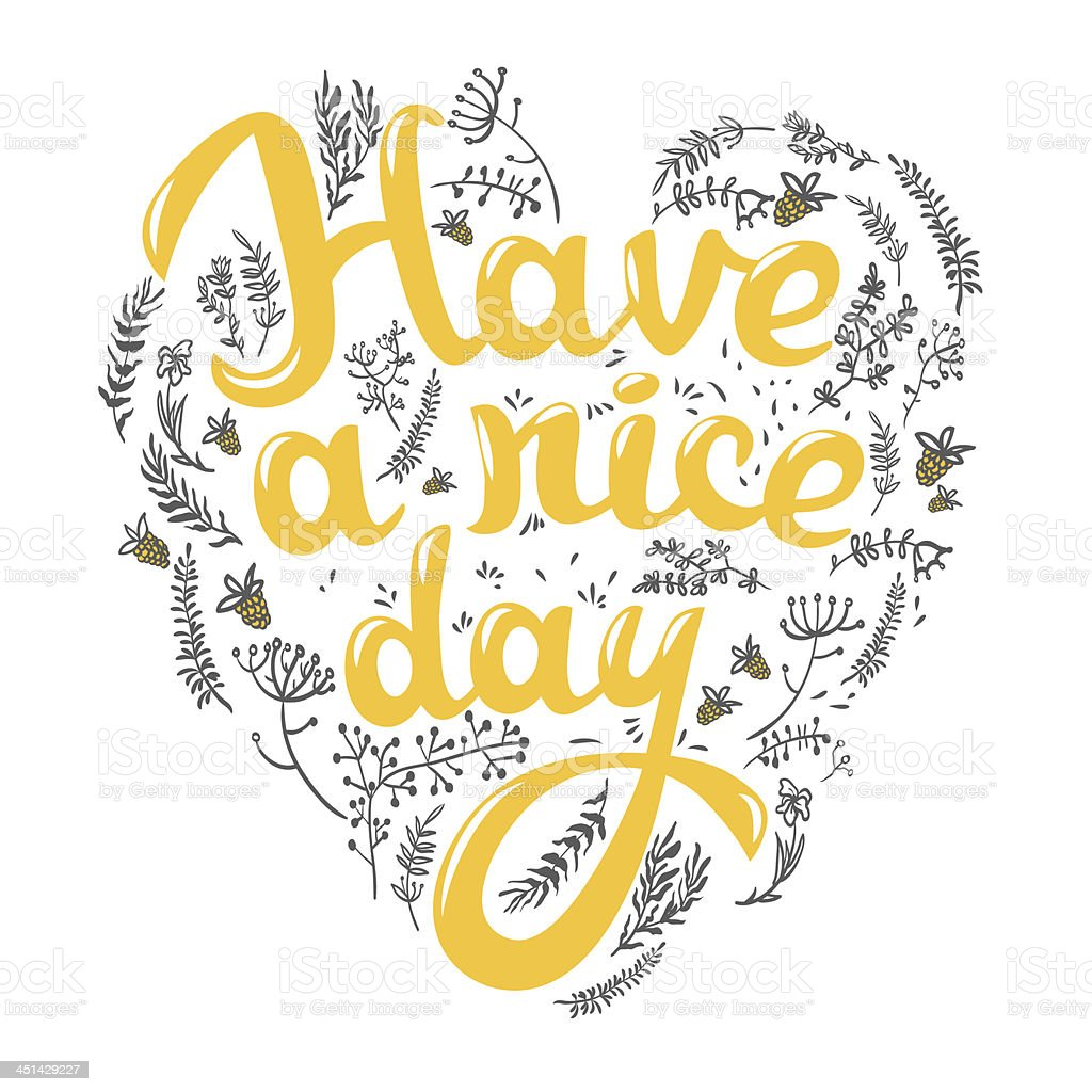 Have A Nice Day Greeting Card Stockvectorkunst En Meer Beelden Van