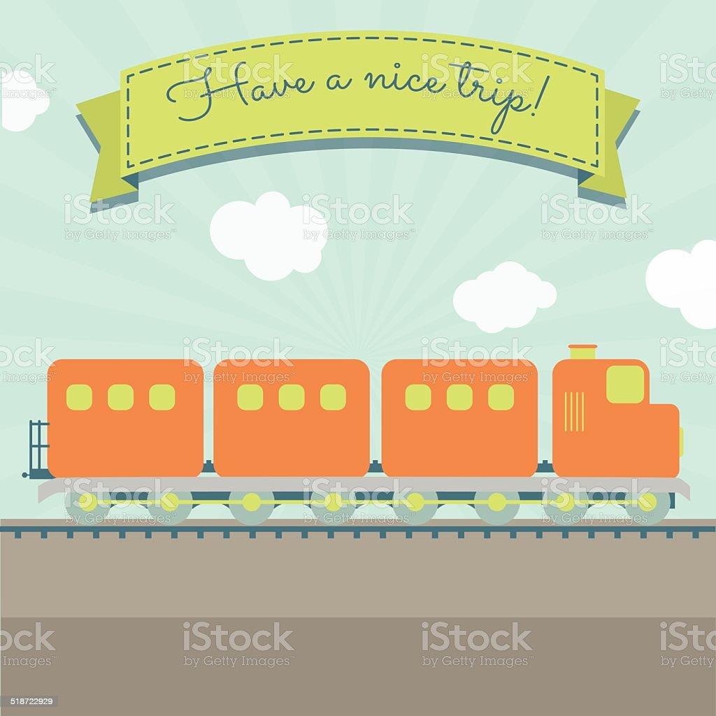 Tenha Uma Boa Viagem De Trem Vetor E Ilustra 231 227 O Royalty