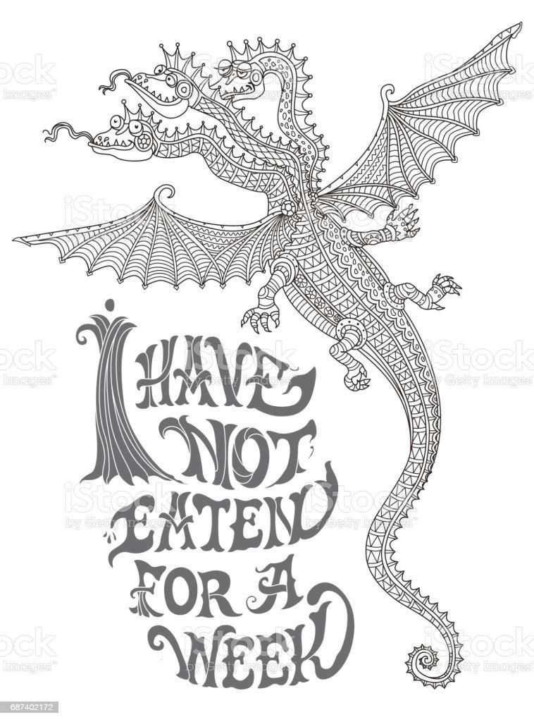 Ilustración de No He Comido Durante Una Semana Citar Expresión Lema ...
