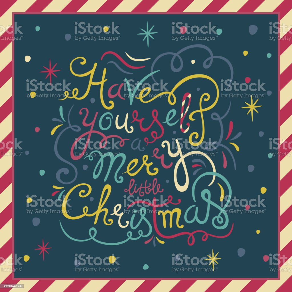 Have Yourself A Merry Little Christmas Vintage Holiday Greeting Card ...