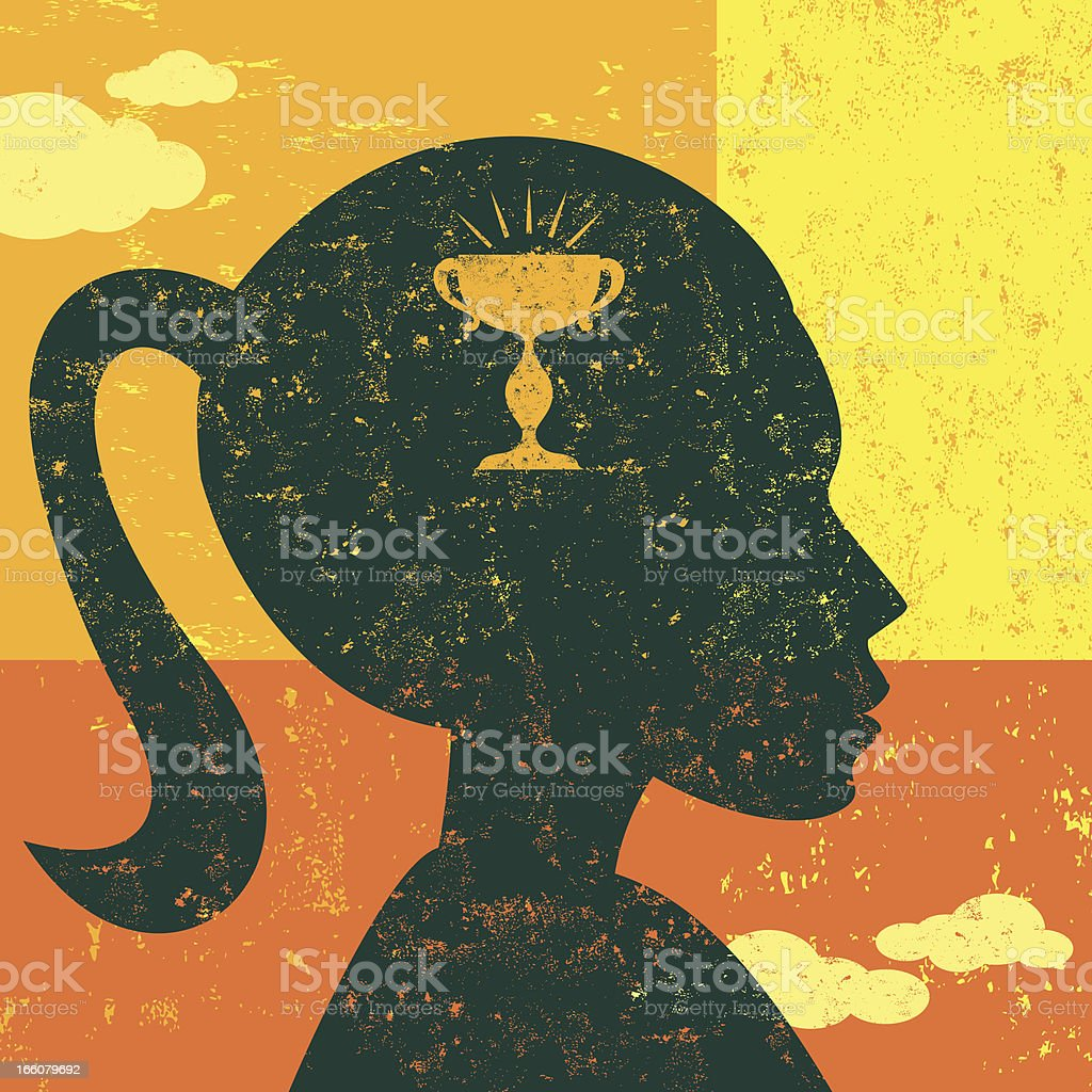 Having a goal in mind royalty-free stock vector art