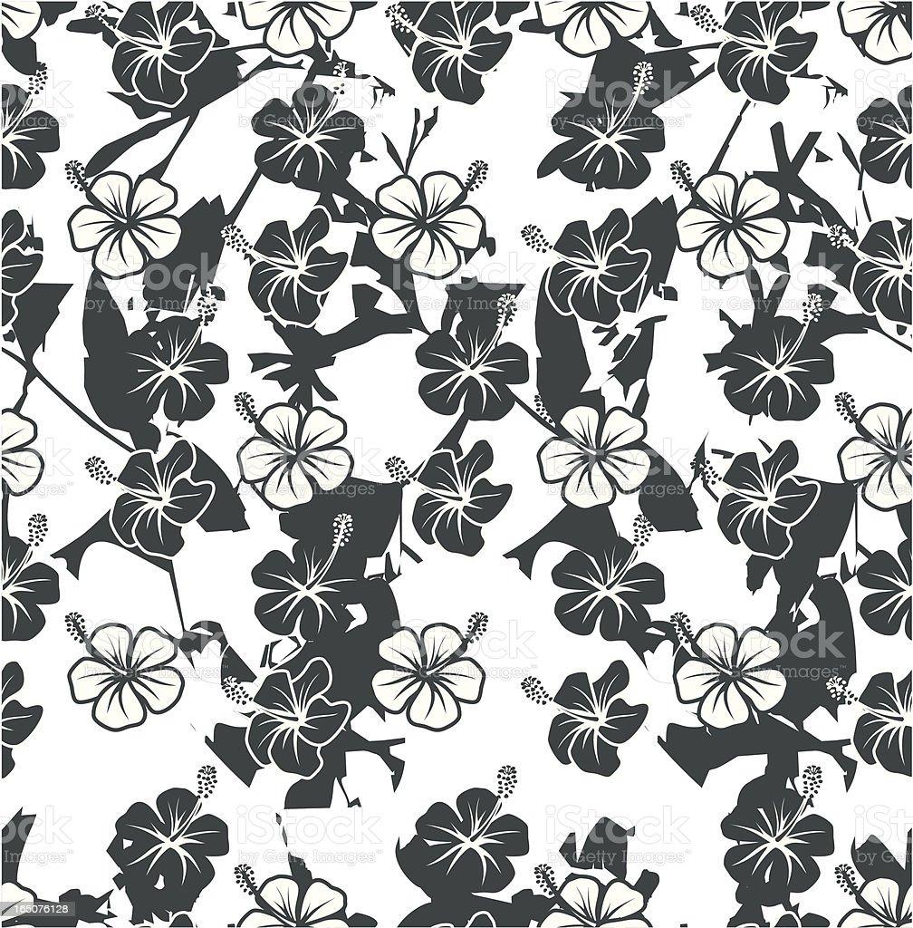 Hawaian seamless pattern royalty-free stock vector art