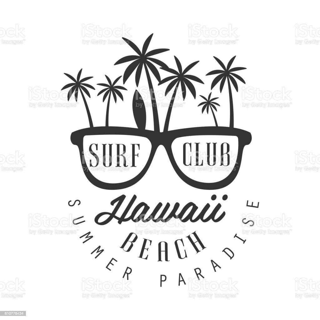 Hawaii Strand Sommer Paradies Symbol Vorlage Schwarz Und ...