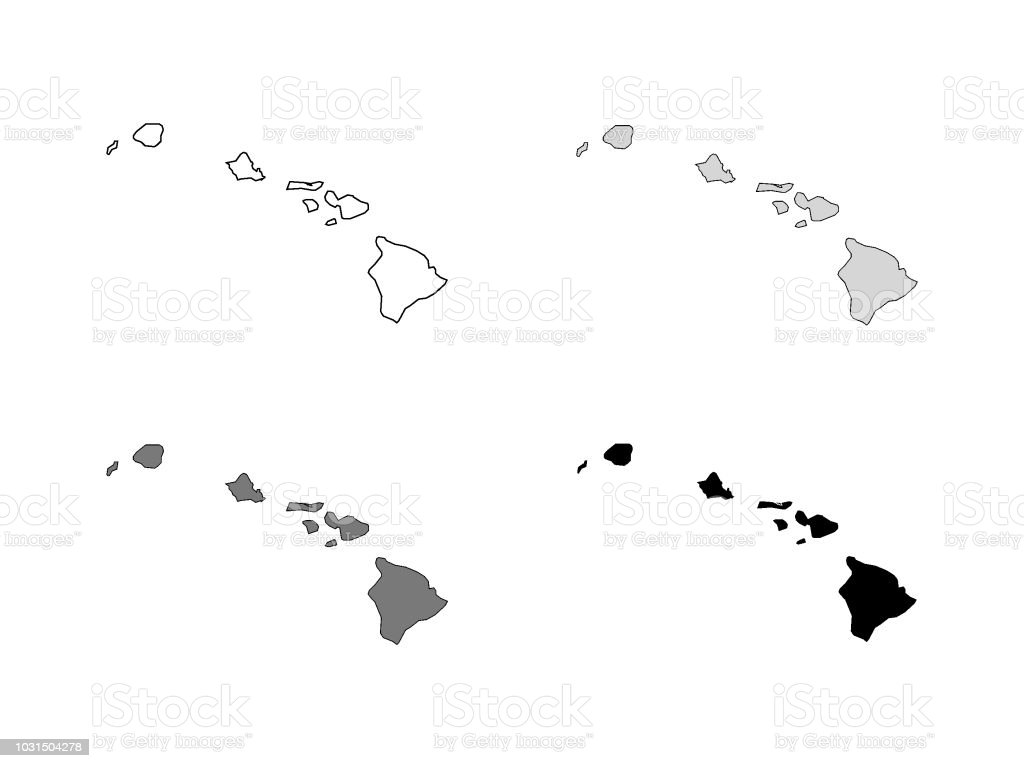Hawaii County Map Stock Vector Art More Images Of Business Travel