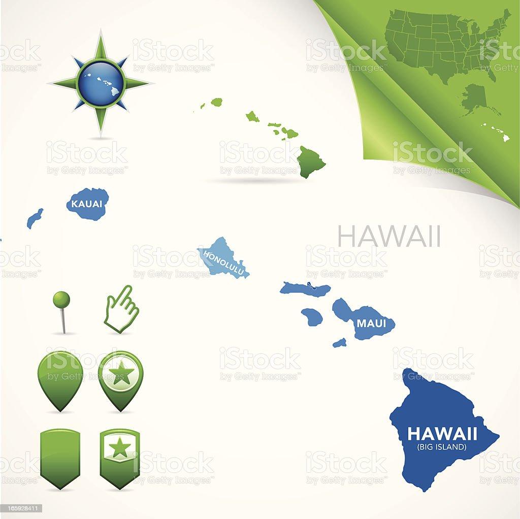Contea Di Honolulu Hawaii contea di hawaii mappa - immagini vettoriali stock e altre
