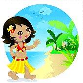 Hawaii cute girl