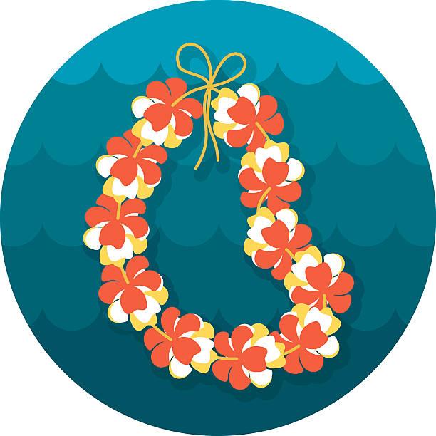 Hawaii flowers necklace, wreath icon. Vacation Hawaii flowers necklace, wreath icon. Beach. Summer. Summertime. Holiday. Vacation, eps 10 hawaiian culture stock illustrations