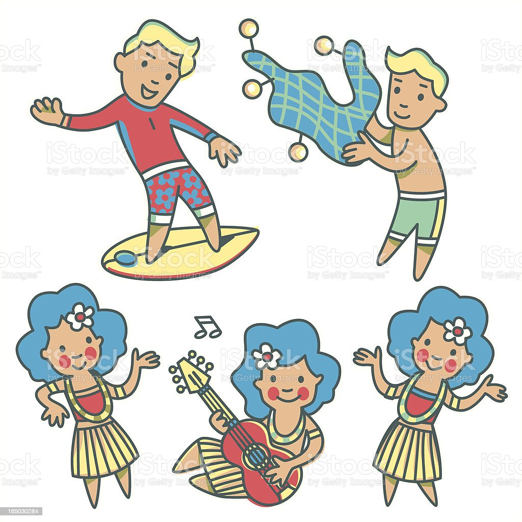 Hawaii Kids royalty-free hawaii kids stock vector art & more images of child