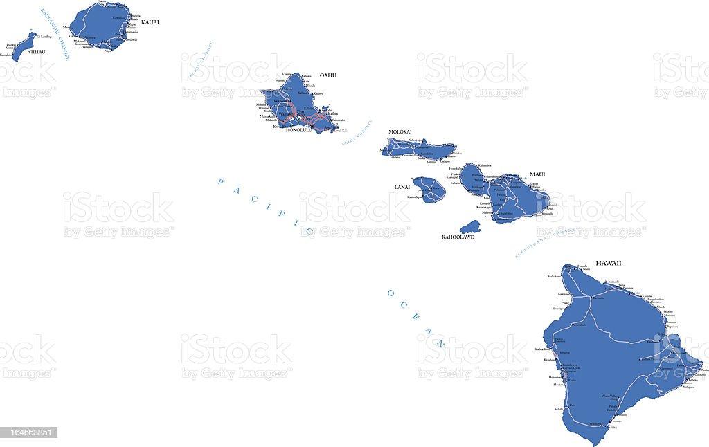 Hawaii map royalty-free hawaii map stock vector art & more images of cartography
