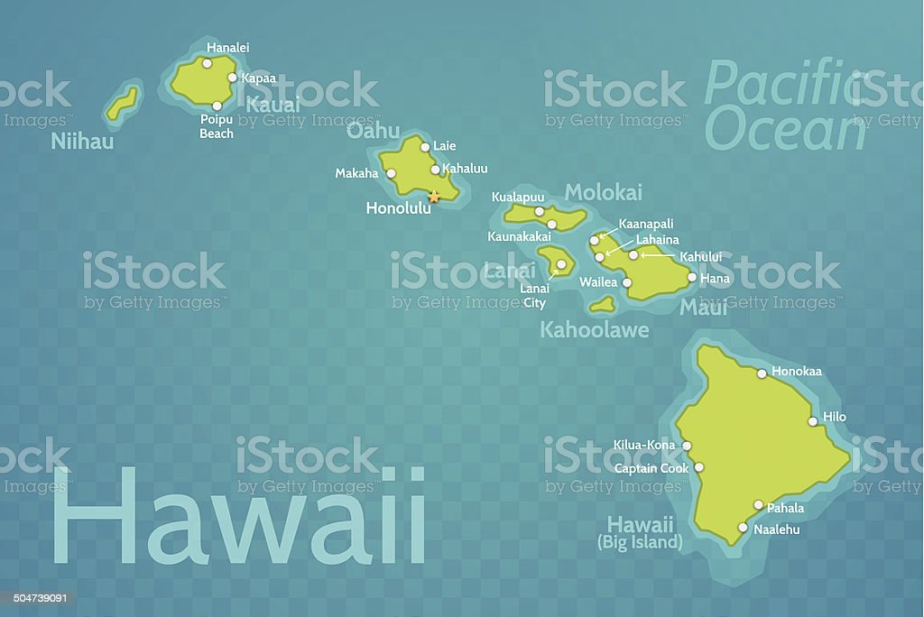 Kahului Hawaii Map.Hawaii Map Stock Vector Art More Images Of Big Island Hawaii