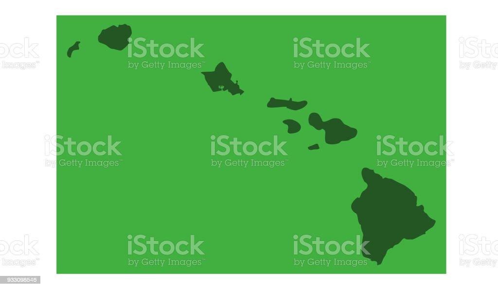Hawaii Map Stock Vector Art More Images Of Big Island Hawaii