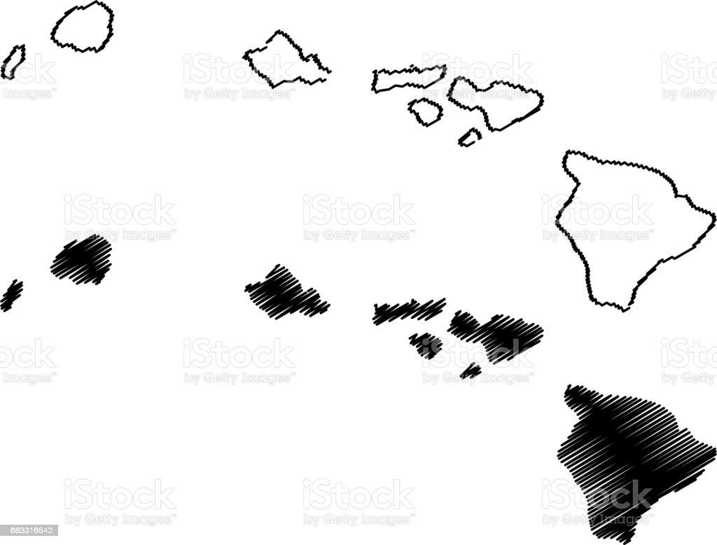 Hawaii map vector hawaii map vector - immagini vettoriali stock e altre immagini di astratto royalty-free