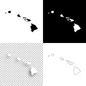 istock Hawaii maps for design - Blank, white and black backgrounds 927397154