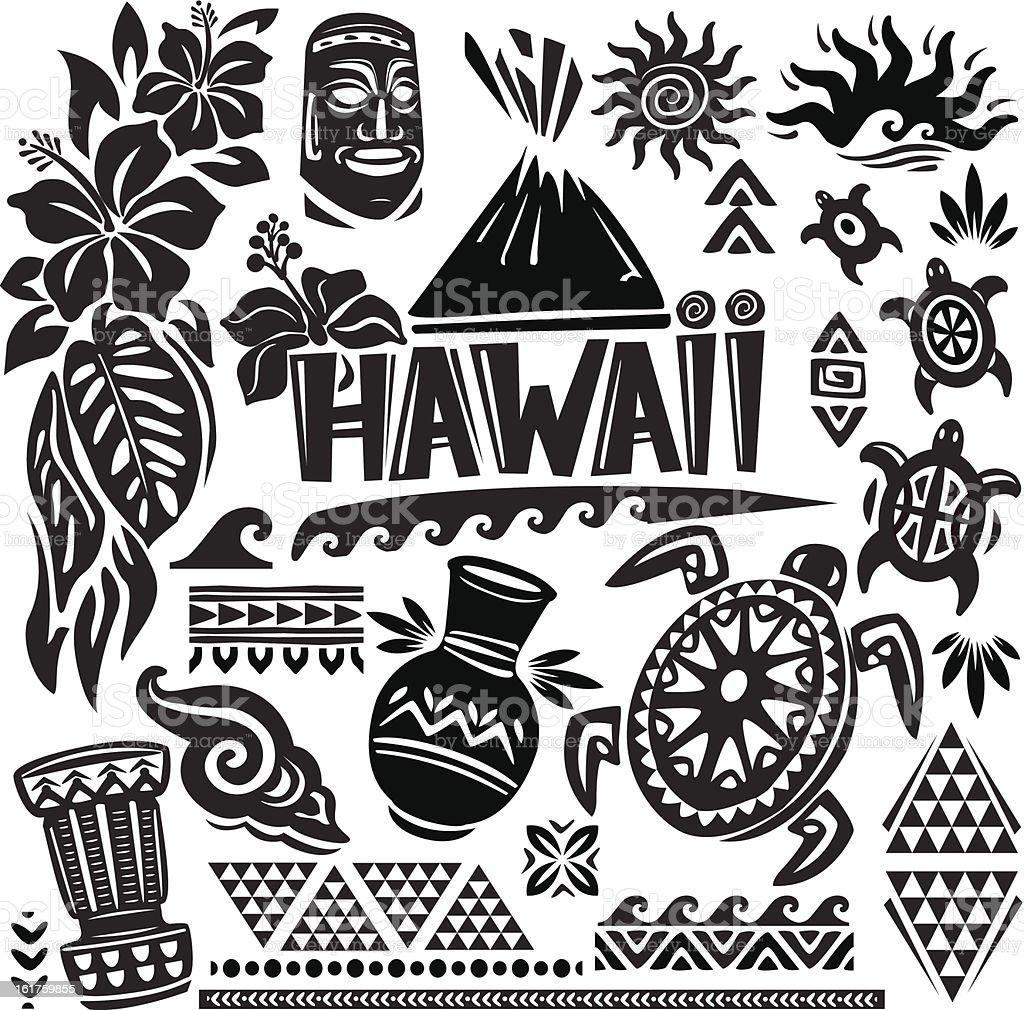 ハワイの設定 - イラストレーションのベクターアート素材や画像を多数ご用意 - iStock