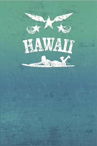 Hawaiis surf-grunge-poster – Vektorgrafik