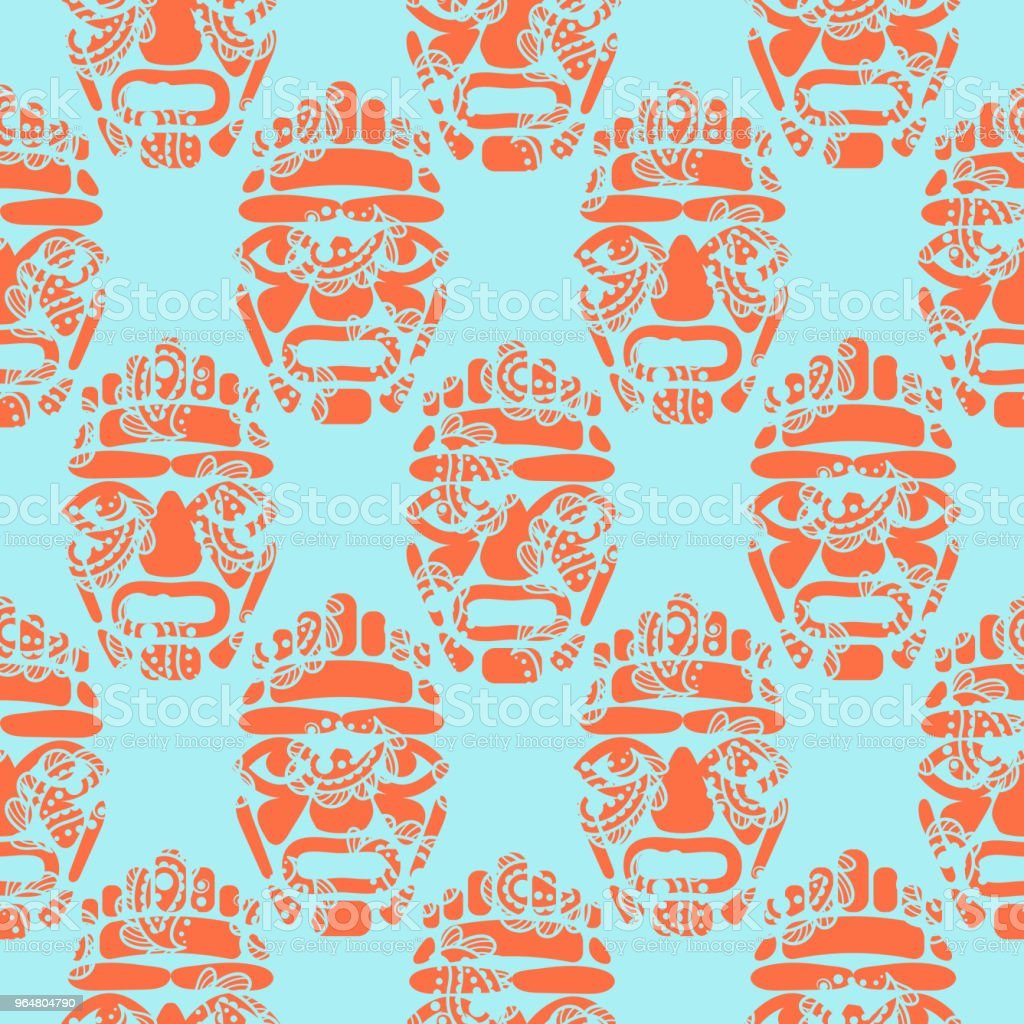 Hawaii tiki tribal mask seamless simple pattern royalty-free hawaii tiki tribal mask seamless simple pattern stock vector art & more images of abstract
