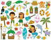 istock Hawaii Tropical Clip art 1226761385