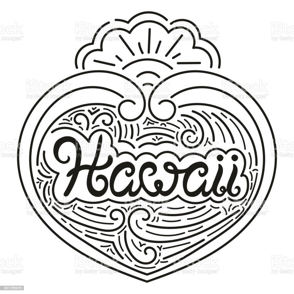 Vector de ilustración de tipografía de Hawaii - ilustración de arte vectorial
