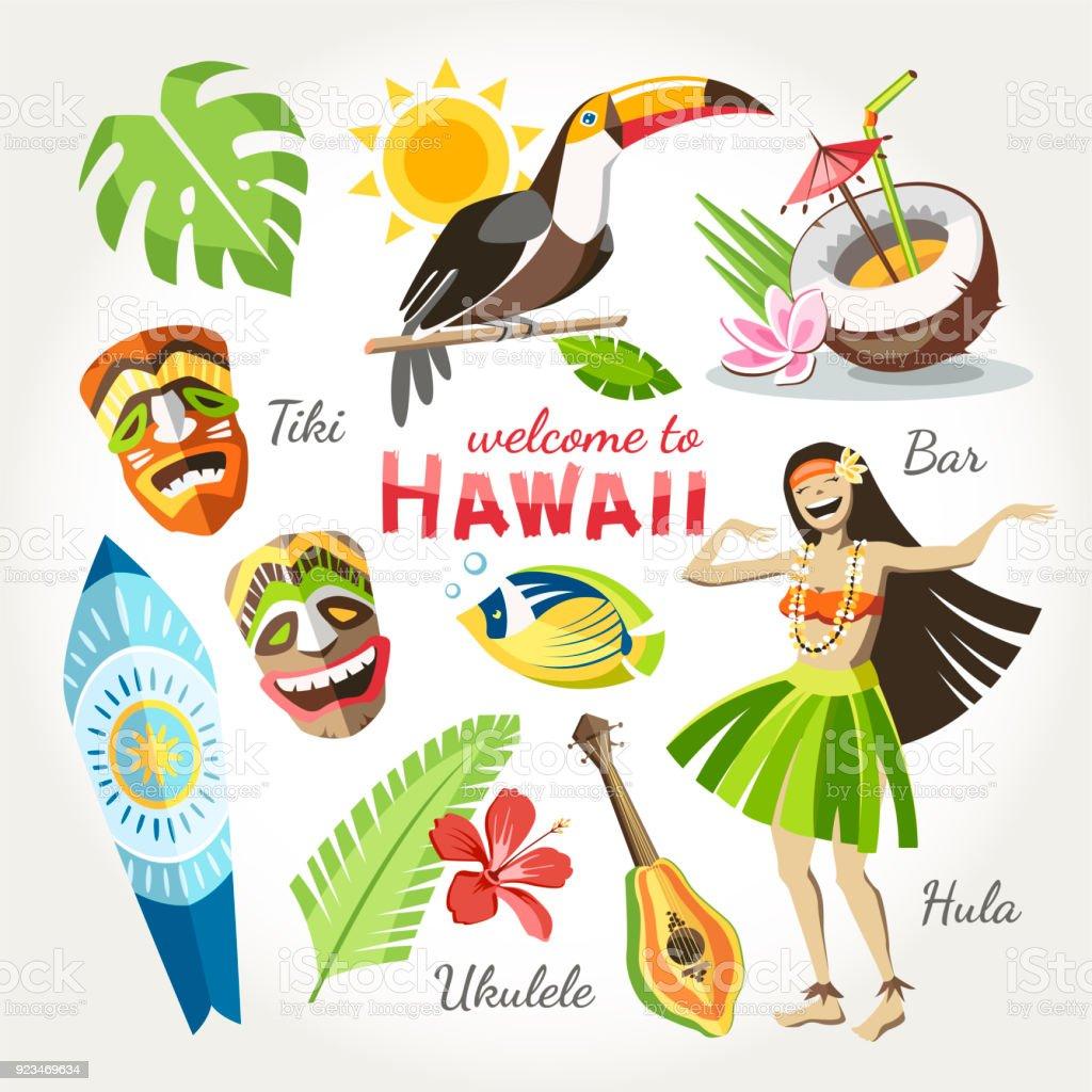 hawaii royalty-free hawaii stock illustration - download image now