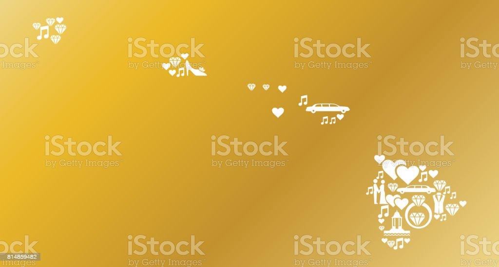 Hawaii Wedding And Love Vector Graphic stock vector art 814859482 ...