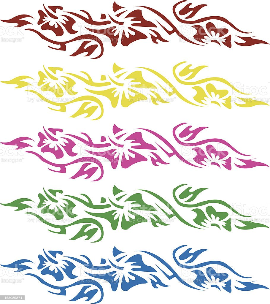 Hawaiian Flower Design Stock Illustration - Download Image ...
