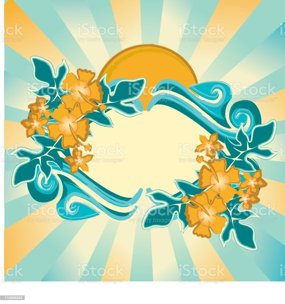 Hawaiian Frame royalty-free stock vector art