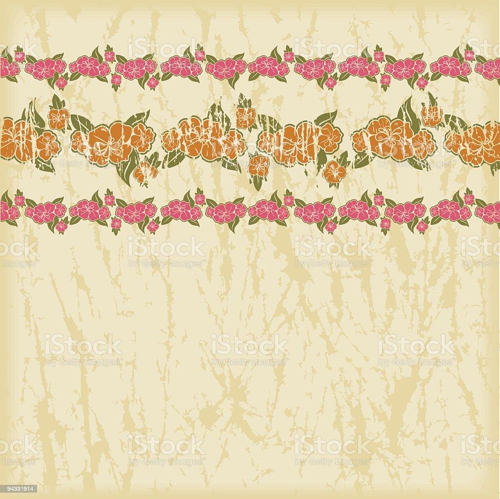 Hawaiian Grunge Series royalty-free stock vector art