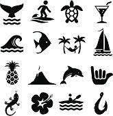 Hawaiian Icons - Black Series