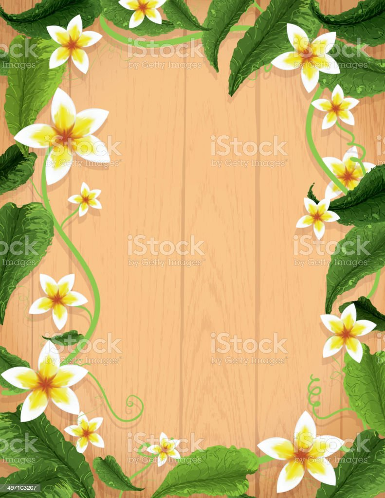hawaiian luau background design template with flowers and
