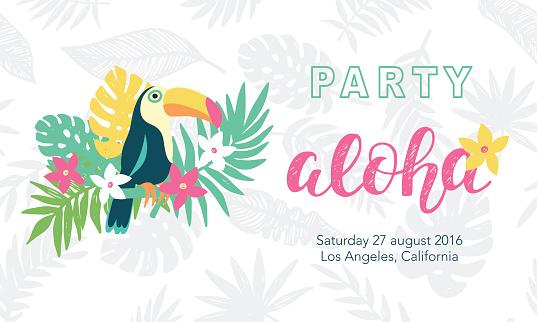 Hawaiian party banner template