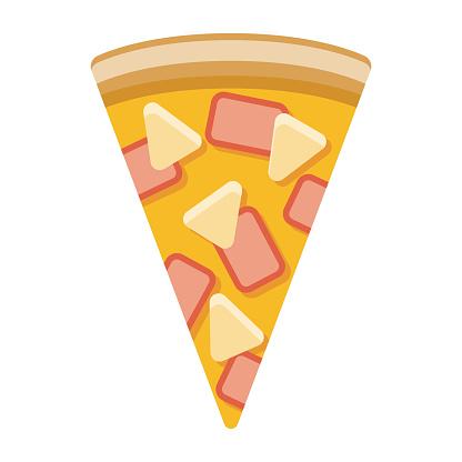 Hawaiian Pizza Icon on Transparent Background