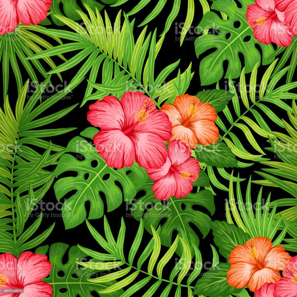 Hawaiian Seamless Pattern Stock Vector Art & More Images of Art ...