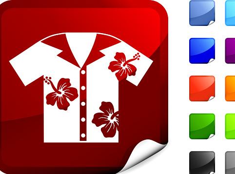 Hawaiian shirt internet royalty free vector art