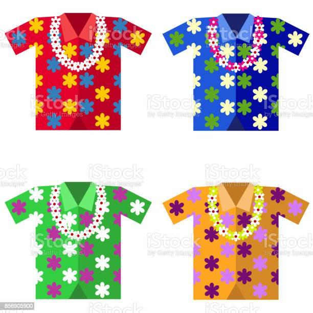 Hawaiian shirt with a garland of flowers vector id856905900?b=1&k=6&m=856905900&s=612x612&h=gpynhlaalshmdzcstulzw8gvwjxczplmt4uq7 drqvm=