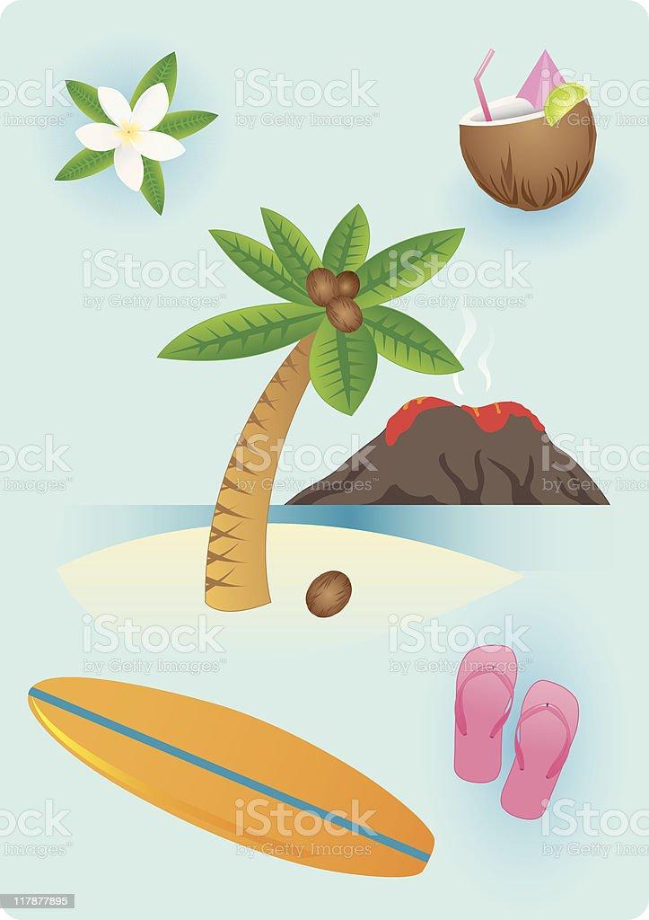 Hawaiian Stuff royalty-free stock vector art