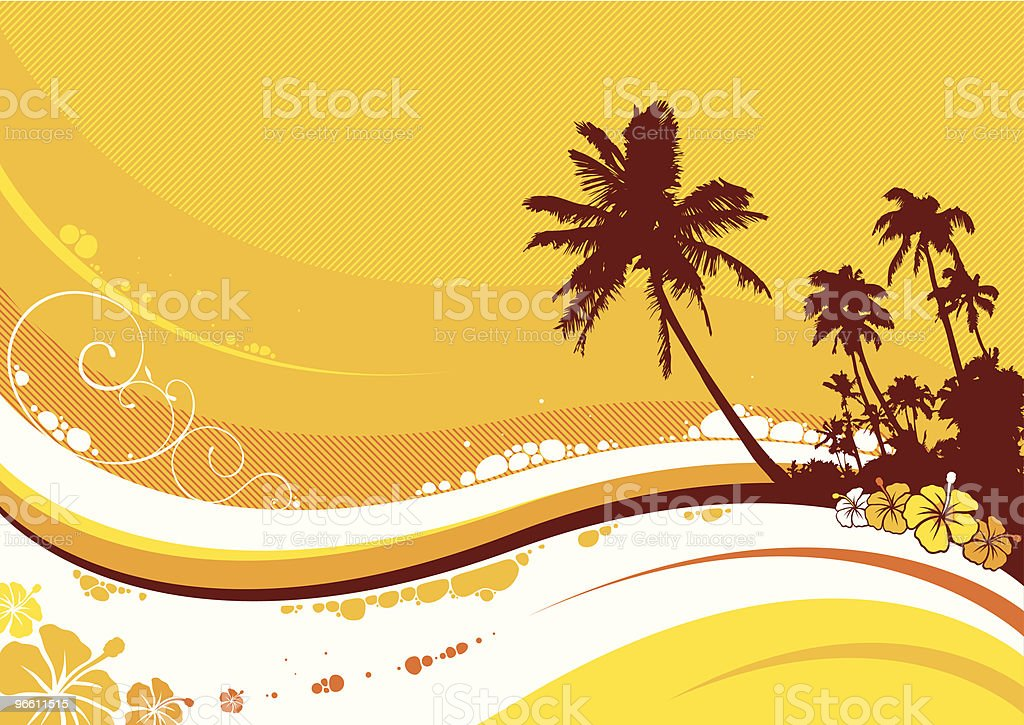 Hawaiian summer wave - Royaltyfri Big Island - Hawaii vektorgrafik