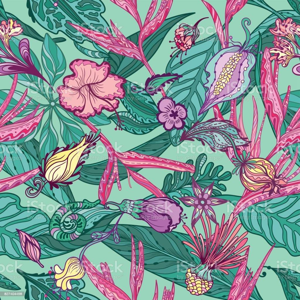 Hawaiian Vector Pattern vector art illustration