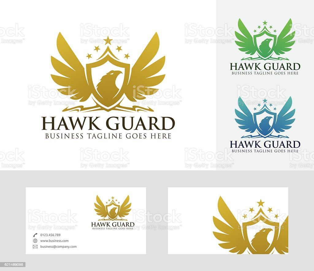Hawk Guard vector logo hawk guard vector logo - immagini vettoriali stock e altre immagini di 2017 royalty-free