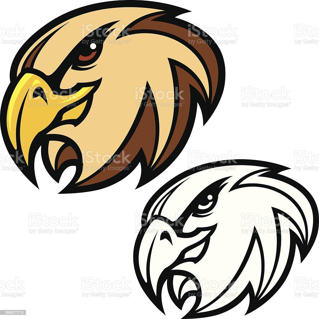 Hawk Head royalty-free hawk head stock vector art & more images of animal