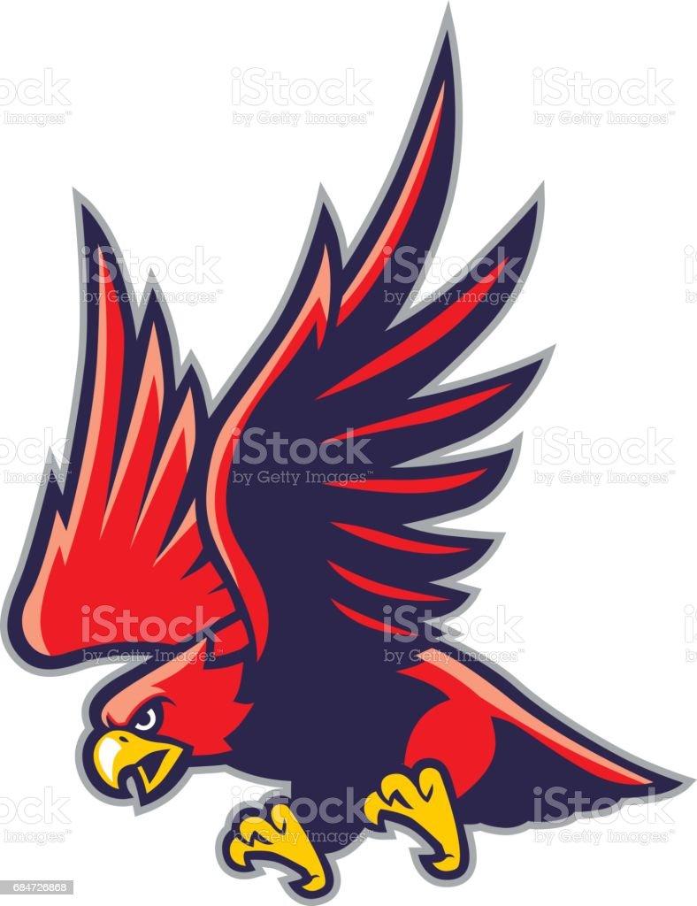 hawk mascot vector art illustration