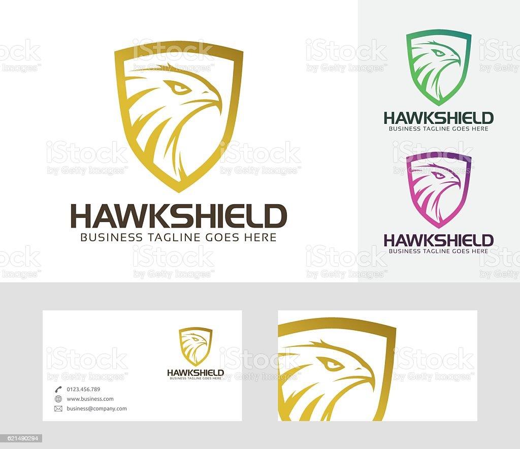 Hawk Shield vector logo hawk shield vector logo – cliparts vectoriels et plus d'images de 2017 libre de droits