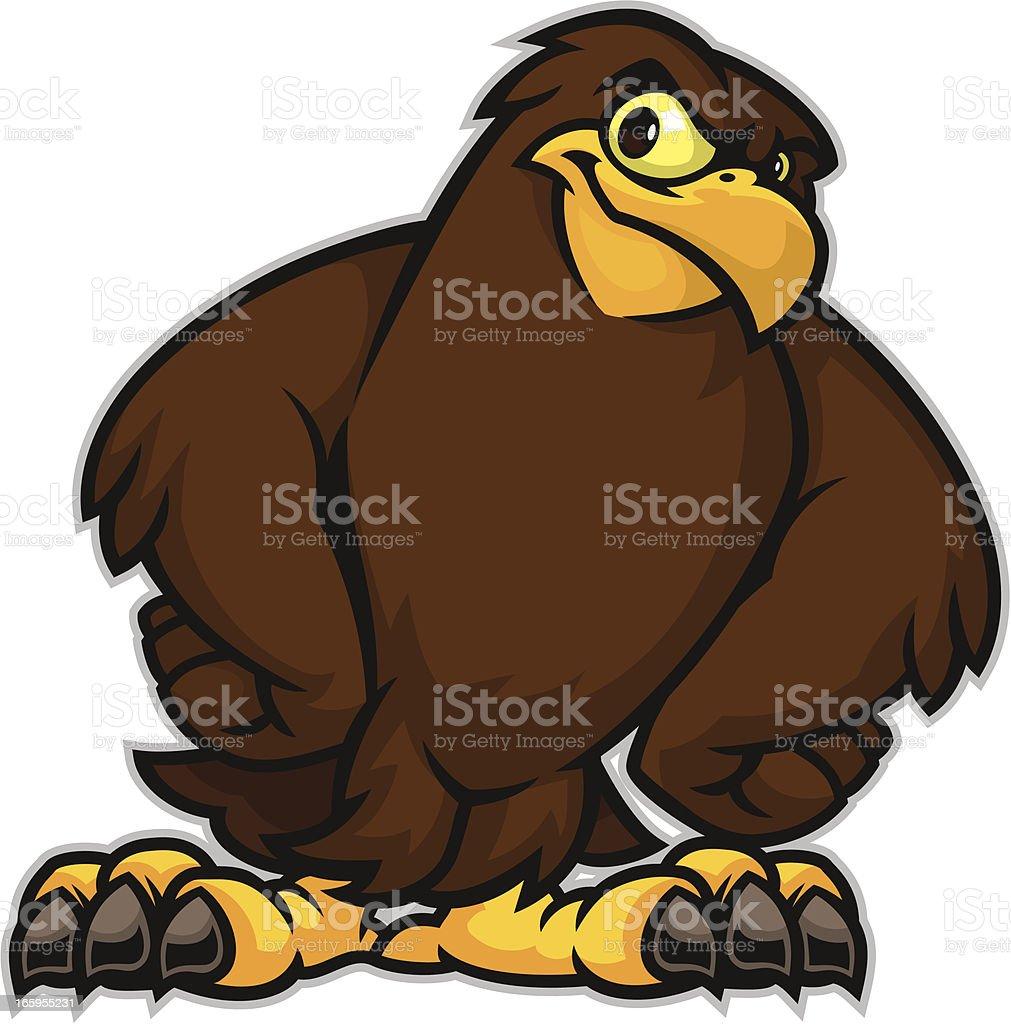 Hawk Stance vector art illustration